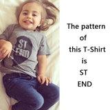 Best Friend Letter Print Matching T-Shirt For Kids Kids Now Apparel