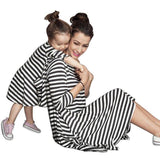 Casual Striped Loose Mother Daughter Matching Dresses Kids Now Apparel