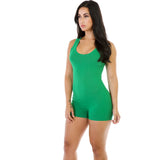 Candy Color Straps Scoop Short Sports Jumpsuit