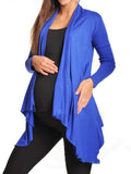 Newbabychic Spring Solid Color Maternity Long Sleeve Coat