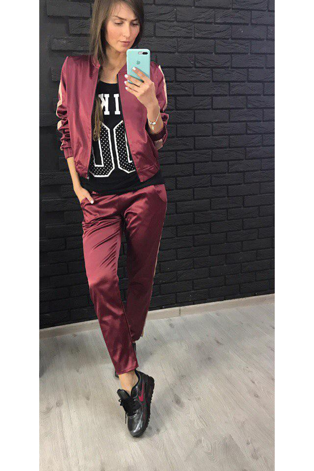 Patchwork Coat with Sports Pants Two Pieces Set
