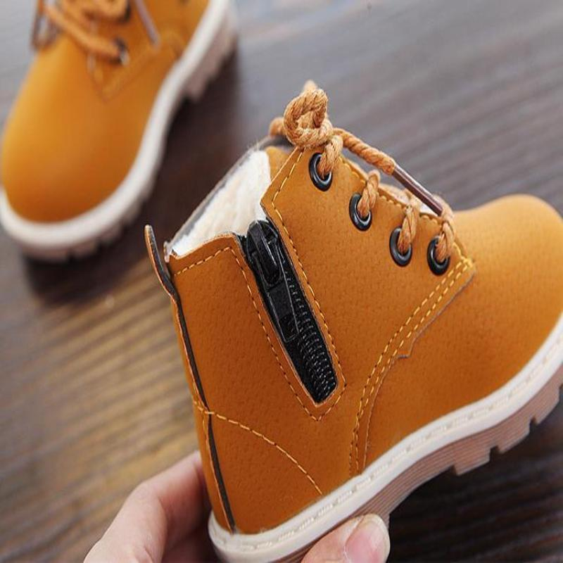 Cotton Padded Slip Resistant Toddler Ankle Boots Kids Now Apparel
