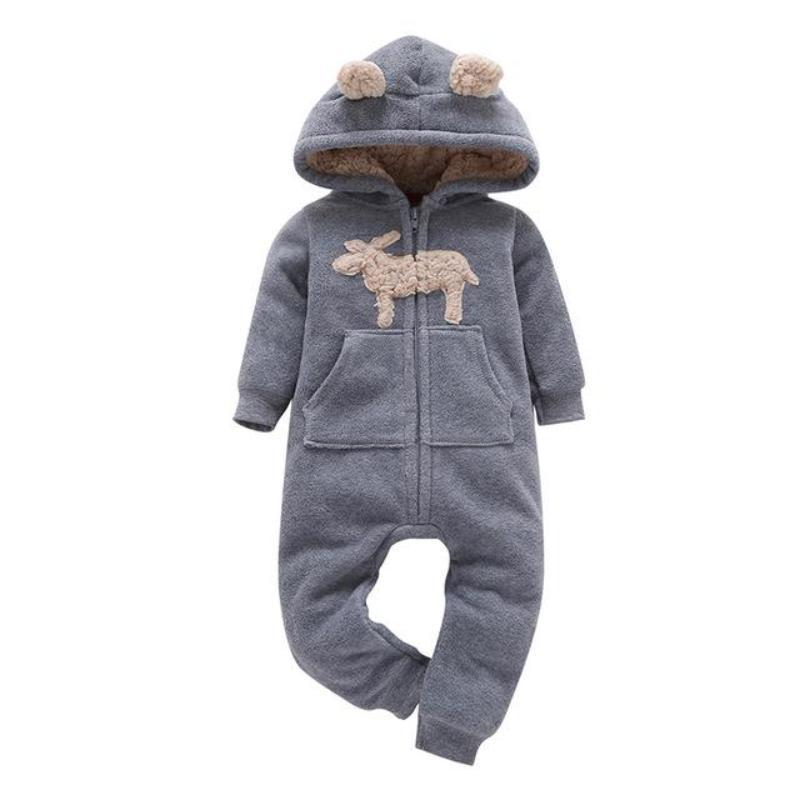 Cute Plaid One Piece Hooded Fleece For Boys And Girls Kids Now Apparel