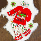 Girl Christmas Outfits With Leggings - 3 Pcs Long Sleeves Tops Toddler Ruffle Pants Set Girls Clothing Sets Kids Now Apparel