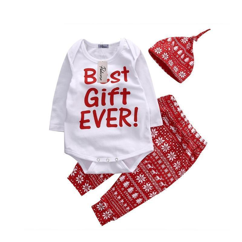 Onesies + Beanie + Pants Baby Outfit Clothing Sets Kids Now Apparel