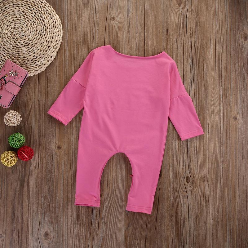 Pink Letter Printed Baby Girl Rompers Kids Now Apparel