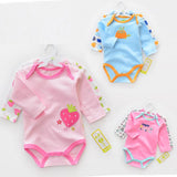 Baby Rompers cartoon long Sleeve infant rompers Jumpsuit cotton Baby Boy Girl Rompers Baby Clothing