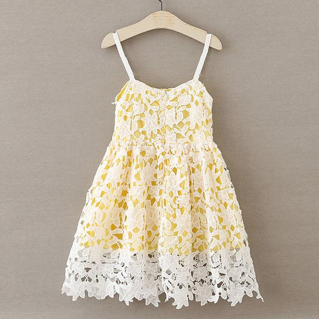 Princess Strap Dress for Girls Clothes high quality lace Costumes for Children Clothing Brand Girls Dresses Kids