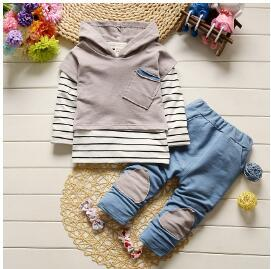 Baby Boys Clothing Sets Autumn 3pcs long sleeve shirt+Vest+pants Striped Tracksuit Toddler Boys Clothes Sport Suit