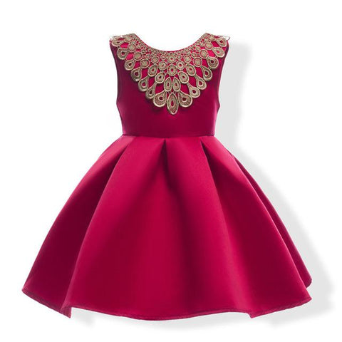 Girls Dress Summer Wedding Dresses Children Bowknot Party Dresses Elegant Ball grown princess dress kids birthday custumes