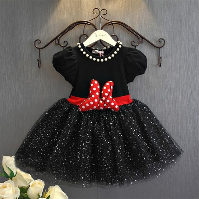 Cute Baby Girl Birthday Dress Cartoon Party Fancy Costume For Girls Sequins Tutu Children's Girl Clothing