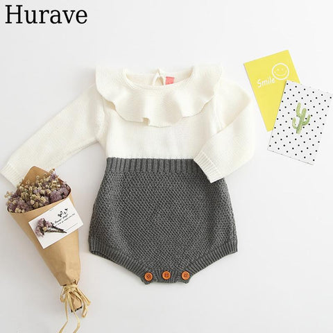 Girl Baby Rompers clothes Autumn and winter Knitted wool Baby Rompers