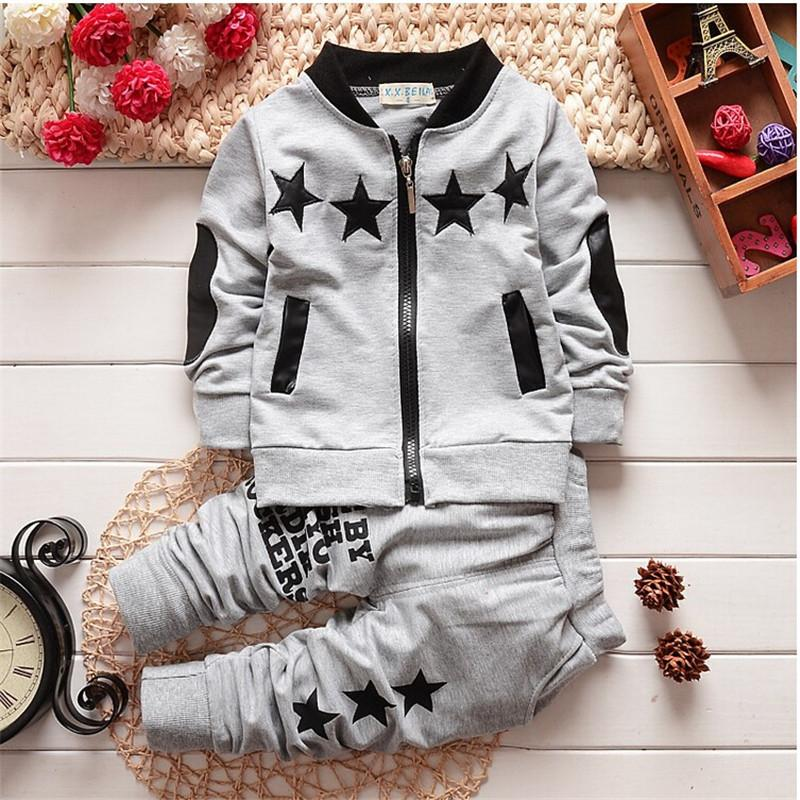 Spring Autumn Baby Clothing Sets Children Boys Tracksuits Kids Brand Sport Suits Kids Long Sleeve Shirt +pants 2pcs Set