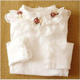 Baby girls t-shirt spring autumn new children clothing long sleeved kids flowers cotton toddler Blouse
