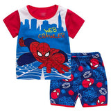 Summer Children Clothing Sets Spiderman Mickey Kids Clothes Infantis Conjunto Menino Tracksuit for Boy Pajamas Sport Suits
