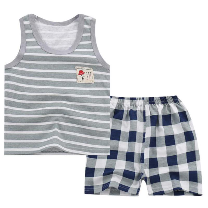 Baby Boy Summer Clothes Clothing Set Suit Pajamas Shorts Pants Kids Little Toddler Boy Summer Vest Outfit T Shirts 1 2 3 4 Year