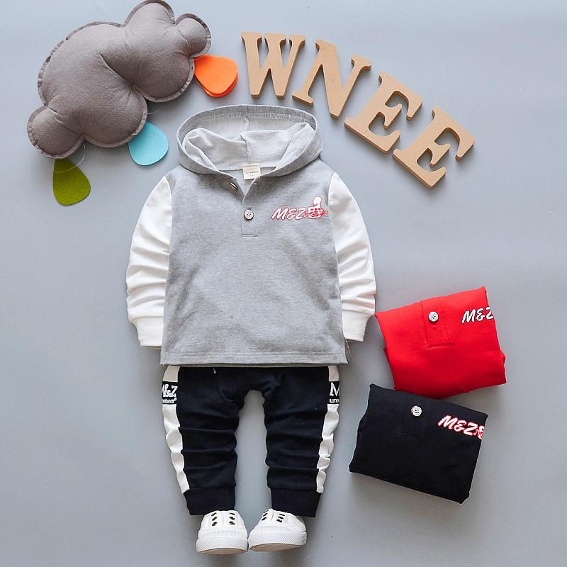 New Spring Boys Clothing Sets Children Boys Hooded Sport Suit Kids Boys New Year Clothes Costume Baby Boys Tracksuit