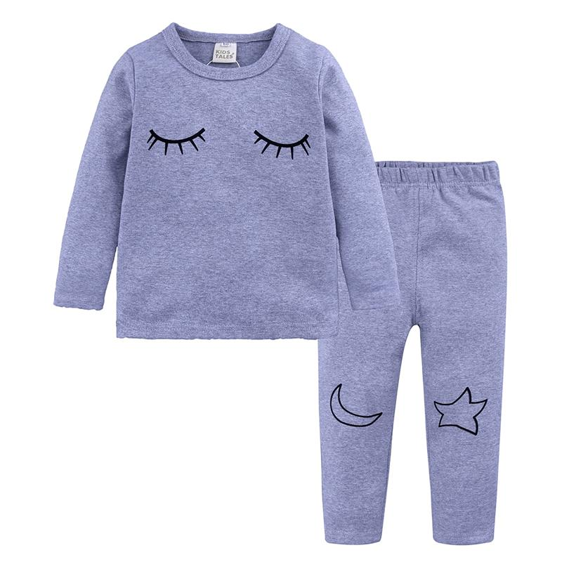 children home wear clothes kids Pajamas Sets boy girl night suit Cotton Sleepwear nightwear Long sleeve clothing 2018