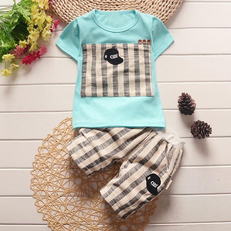 boy Summer Clothing Set Baby Boy Cotton t-shirt Short Pants Children Set For Summer Boy Cartoon Clothes Tracksuit