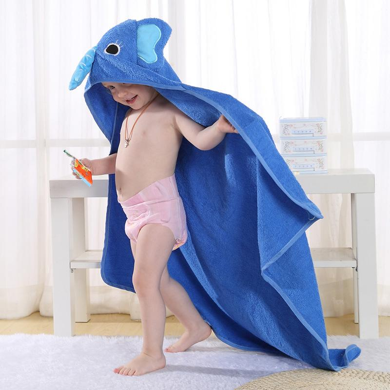 Toddler 100% Cotton Bathrobe Baby Boys Girls Spring Animal Hooded Children Cloak Cloak Cartoon Robes
