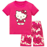 Cute Starfish Pajama For Girls Summer Cotton Casual Clothing Good Quality Kids Pajama Sets Girls Clothing Sets Baby Clothes