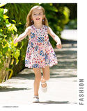 Girls Floral dresses cute cotton Sleeveless dress for baby girl children clothing costume girl dresses 2018 for summer