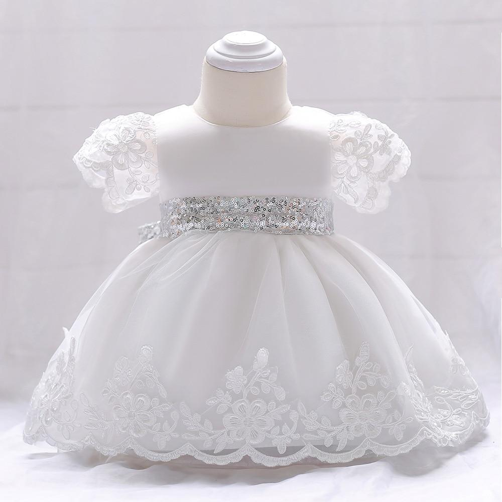 newborn Baby Girl Dress Lace white Baptism Dresses for Girls 1st year birthday party wedding Christening baby infant clothing