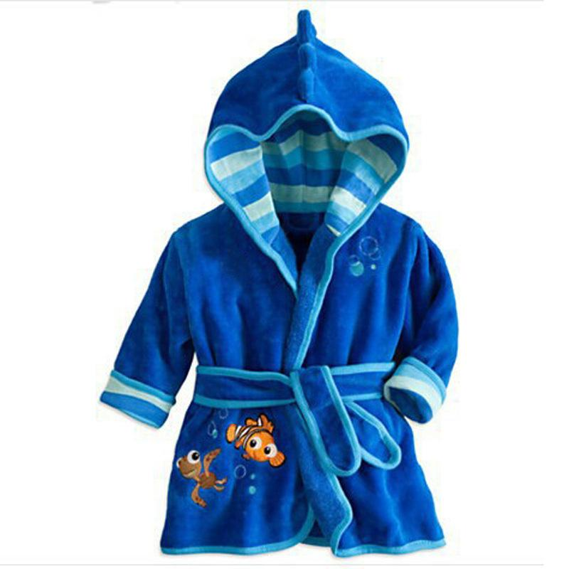 Children's Baby Boys Robe For Girls bathrobe Cartoon Soft Velvet Robe Pajamas Coral Baby Kids Warm Clothes
