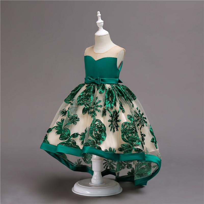 Camila- 3D Flower High-Low Gown