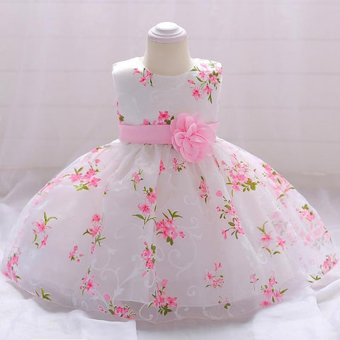 Lovely Flower Little Baby First Communion Dress With Flower Boutiques Birthday Party Gown Dress For Baby