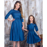 mom and daughter matching clothes bows half sleeve mother baby dresses mommy me outfits for girls mama family look dress