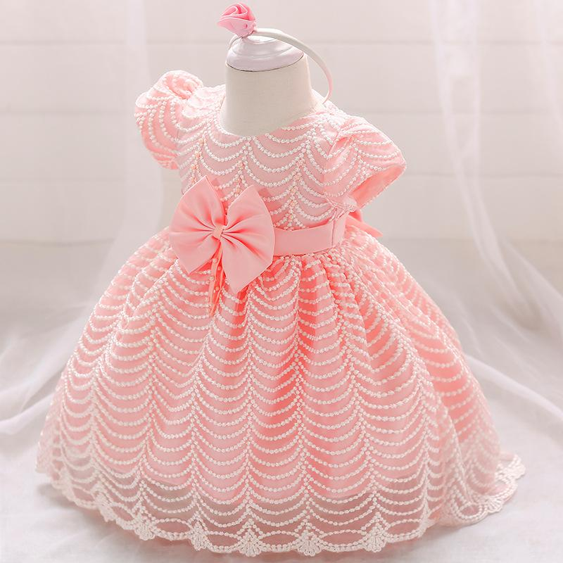 New Baby Girl Winter Christmas Clothes Wedding Tutu Dress For Girls Princess Dress Infant 1 Year First Birthday Girl Party Dress
