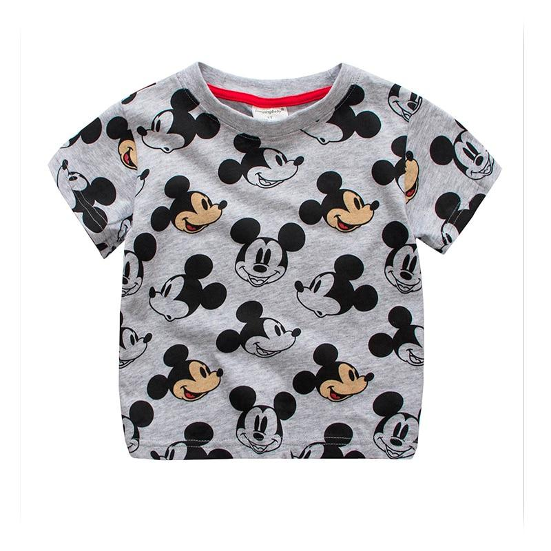 Kids Fashion Boys Girl Tops Tees Cotton Short Sleeve Cartoon Mouse Style Boy Girls Clothes Kid T-Shirt for Children