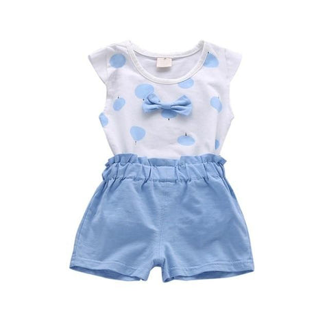 67d727edf Toddler Baby Girls Clothing Sets Print Bowknot 2pcs Girls Summer Clothes  Set Kids Casual Suit Tracksuit Sweatshirt
