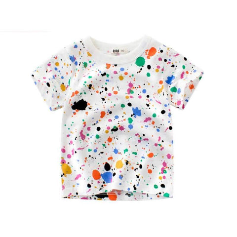 Baby Girls T-shirt Cartoon Graffiti Children's Clothes Summer T shirts For Kids Boys Cotton Tops Boys Shirts