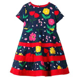 Jumping Meters Girls Summer Dress Princess Dress for Girls Costume Animal Applique Children Party Dress Baby Girl Clothes