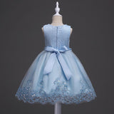 New lace party Christmas Wedding dress Children's beaded baby girl dress performance of the clothes baby girl clothes