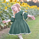little girls ball gown dress sweet kids girl lovely vintage princess dresses loita style cute children girls dress 6M-4T