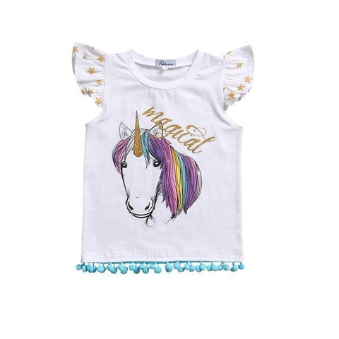 Girl T-Shirt and Romper Infant Unicorn Matching Set Big Sister Tops Newborn Baby Girls Romper Bodysuit