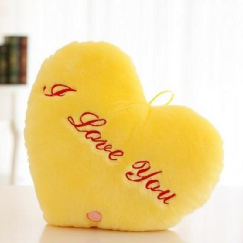 Soft Embroidered Letter Heart Shape Luminous Pillow Kids Now Apparel