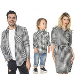 Trendy Plaid Print Family Matching Clothing Sets Kids Now Apparel