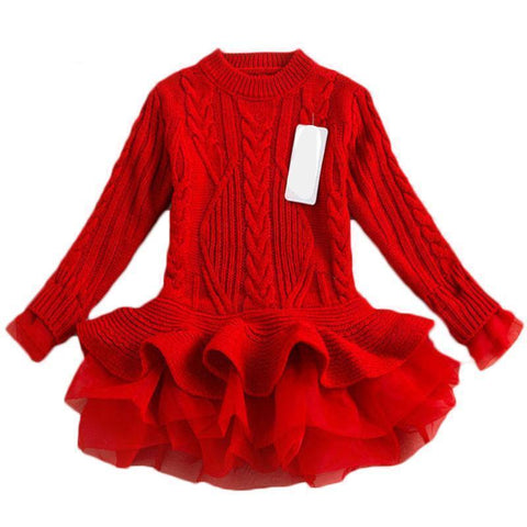 Warm Knitted Toddler Tutu Sweater Dress Kids Now Apparel