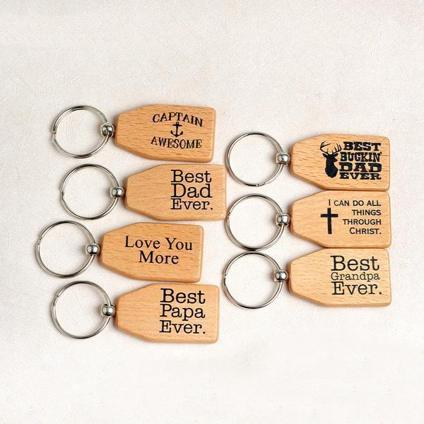 Wood Printed Family Key Chain Gift Kids Now Apparel