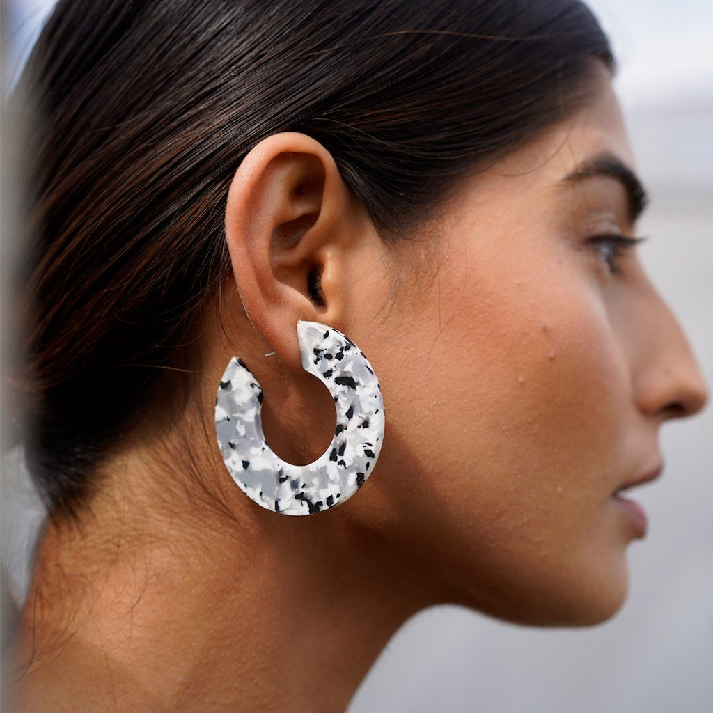 Ananda .02 earrings - Blox Beton Hoops AYM
