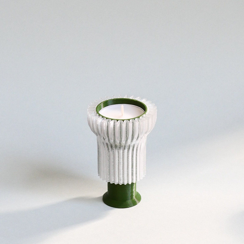 Double candle holder 2.21.2 - green Candle holder Warren & Laetitia