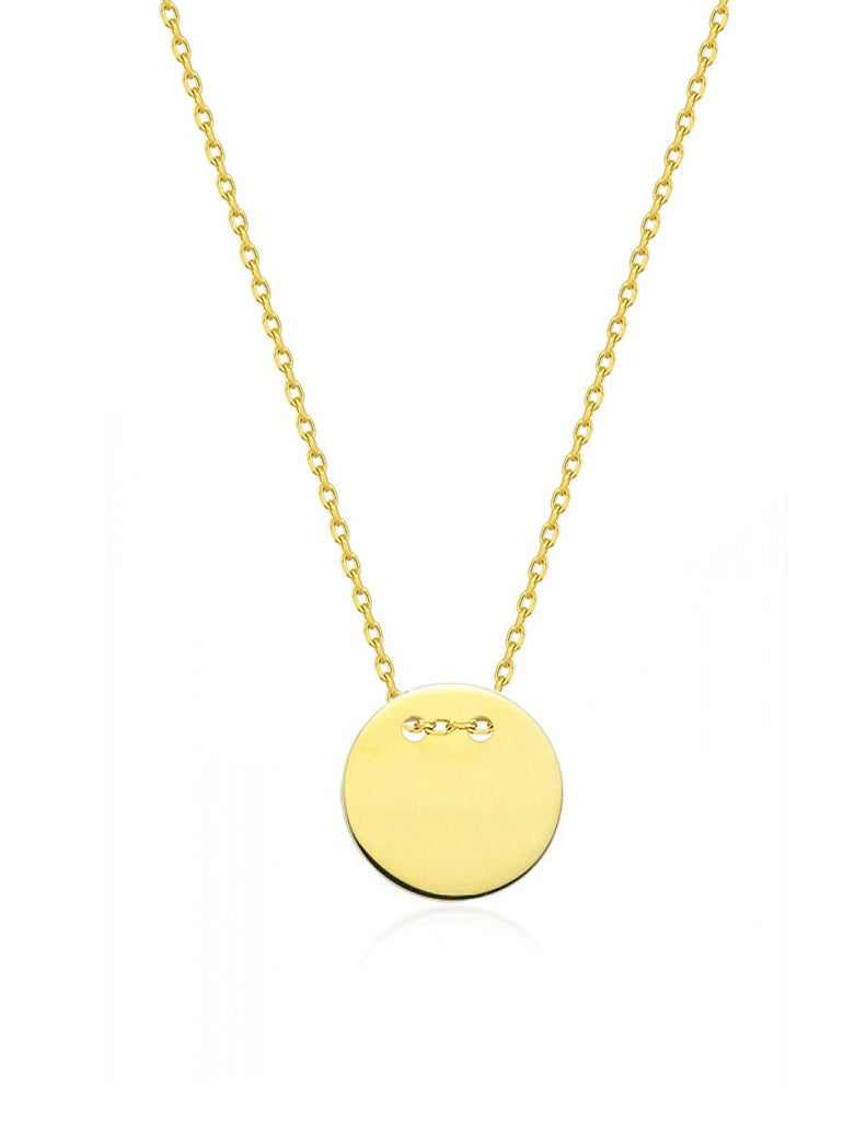 Maisonirem 14k solid gold Moon Necklace Fine jewelry Gold