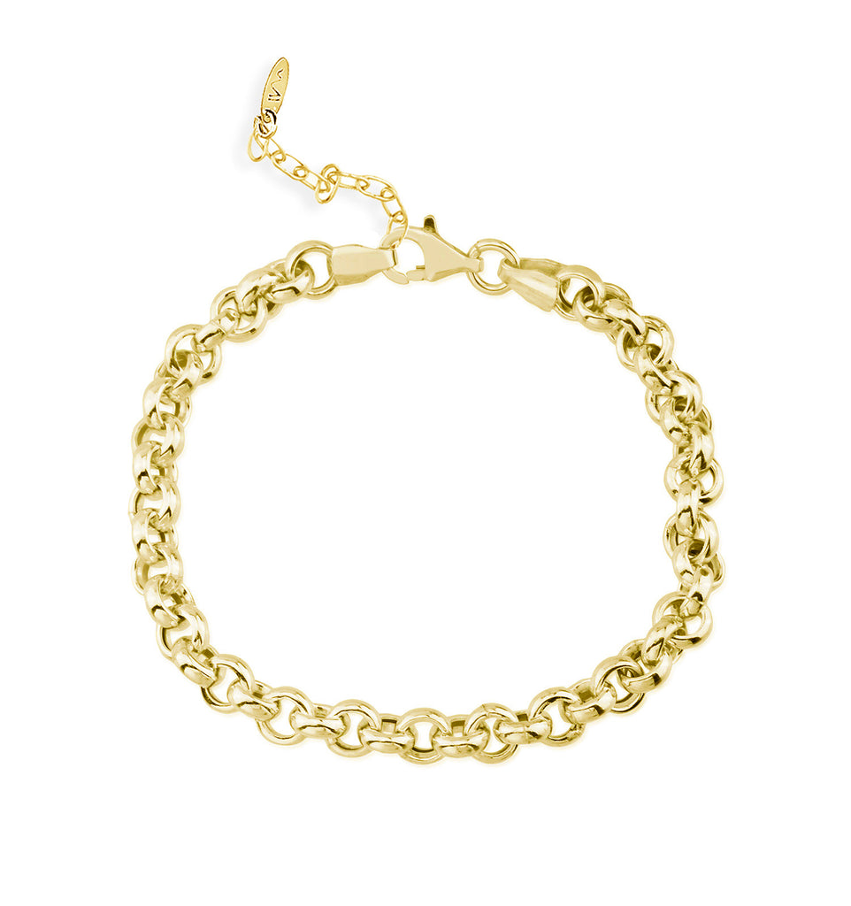 Maisonirem Ankelet and Bracelet Rolo Chain Leith Bracelets