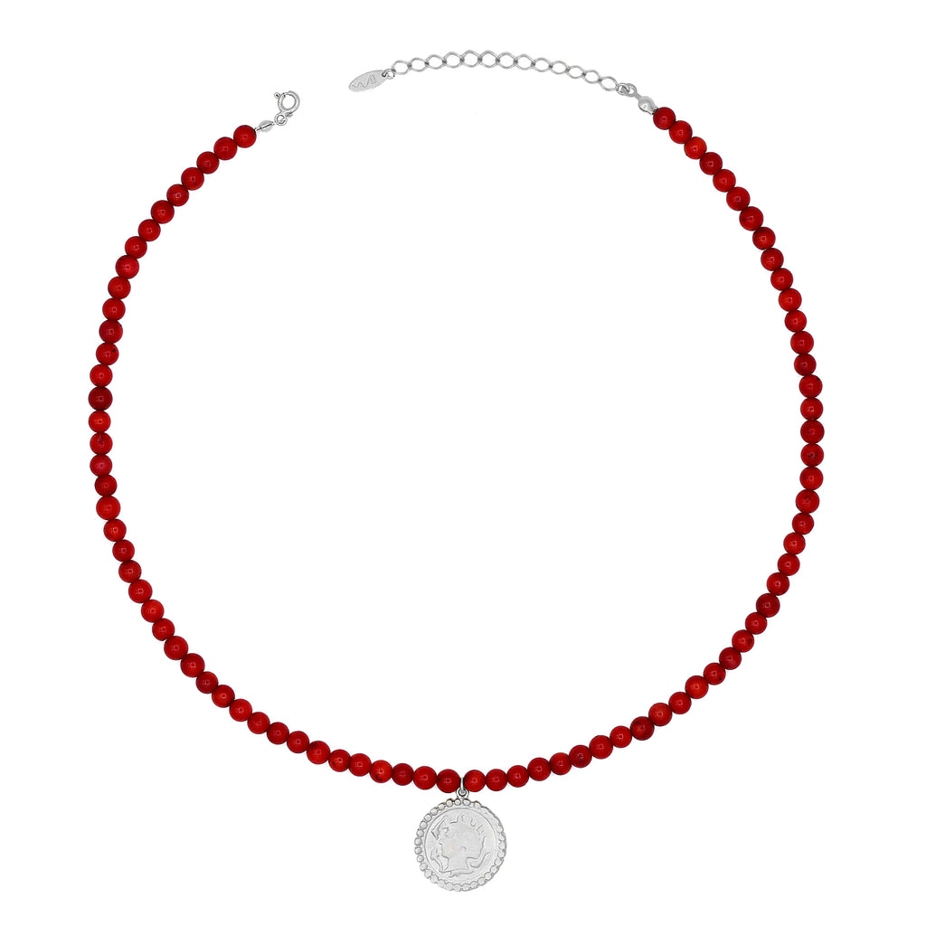 Maisonirem Beaded Coin necklace Necklaces Silver