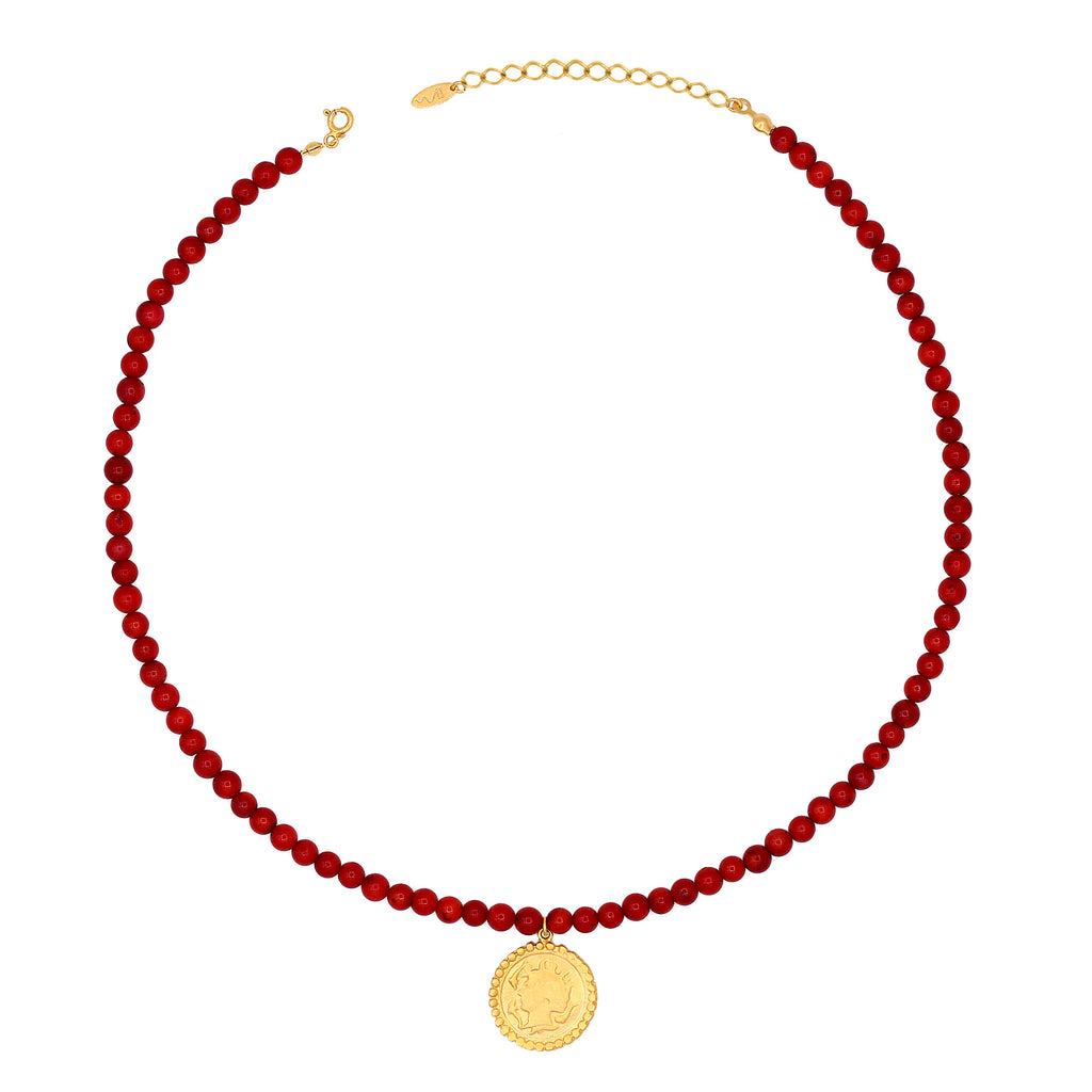 Maisonirem Beaded Coin necklace Necklaces