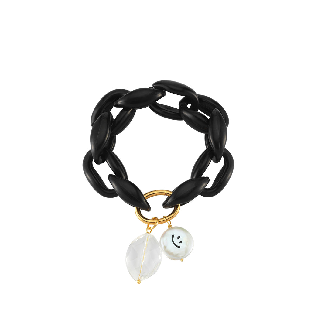 Maisonirem Bracelet Smiley Bracelets Black
